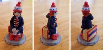 A chess piece from my second Doctor Who chess set