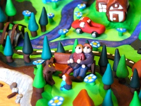Detail of one of my polymer clay worlds (Emmi Visser)