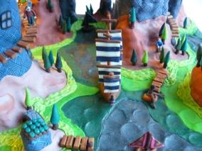 Detail of one of my polymer clay worlds (Emmi Visser)