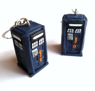 Tardis earrings by Emmi Visser