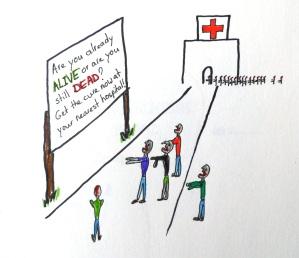Quick zombie sketch by Emmi Visser