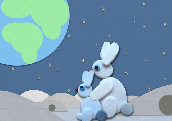 Snip+Mama kijken naar aarde